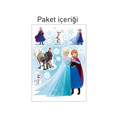 Disney Frozen Duvar Stickerı 68X48 Cm Renkli
